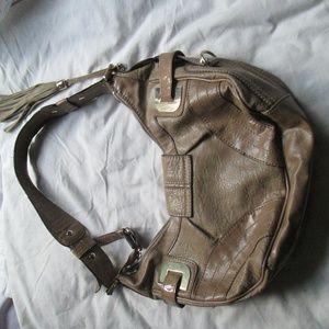 Guess Bags - Guess Camel Leona Tan Satchel Purse Buckle Bling..